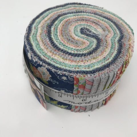 "Moda Tuppence Jelly roll strips by Shannon Gillman Orr 2.5"" 45510JR-Fabric-Moda-Fabric Mouse"