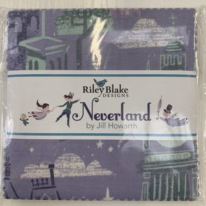 Peter Pan Neverland Charm pack quilting fabric-Charm Pack-Riley Blake-Fabric Mouse