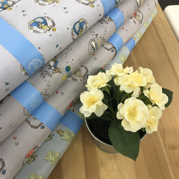 Peter Rabbit Fabric from Beatrix Potter Childrens baby boy girl per half metre-Fabric-Beatrix Potter-Fabric Mouse