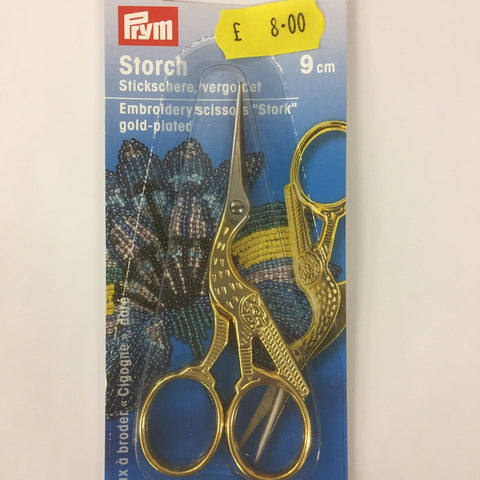 "Prym Embroidery Scissors ""Stork"" gold-plated 9 cm-Measuring Tools and Cutting-Prym-Fabric Mouse"