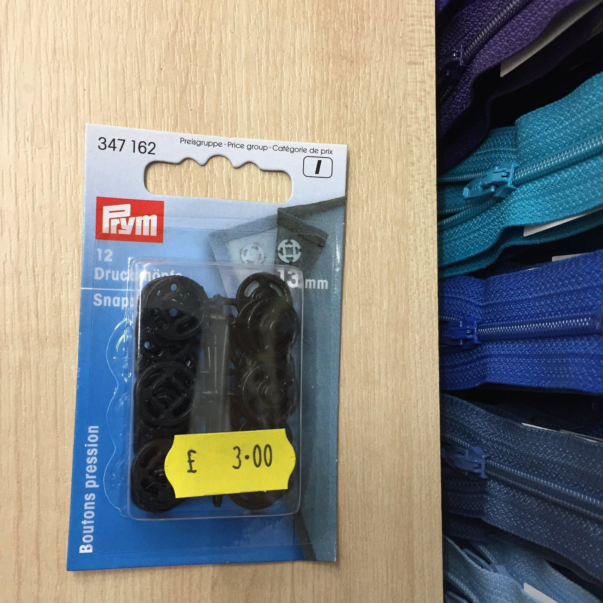Prym snap fasteners black 13mm- 347162-Fabric Mouse-Fabric Mouse