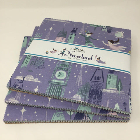 Riley Blake Neverland Layer cake by Jill Howarth 10-6570-42 Peter Pan, wendy, Hook-Fabric-Riley Blake-Fabric Mouse