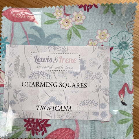 Tropicana charm pack for quilting-Charm Pack-Lewis & Irene-Fabric Mouse