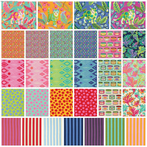 "Tula Pink Layer Cakes by Free Spirit 10"" Charm Packs-Fabric-Tula Pink-Fabric Mouse"