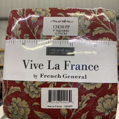 Vive La France Charm Pack Quilting Fabric-Charm Pack-Moda-Fabric Mouse