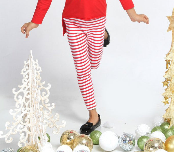 Haven Girl Red & White Stripe Leggings