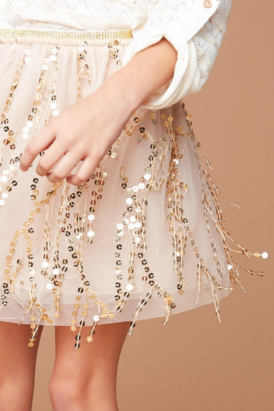 Sequin Mesh Skirt