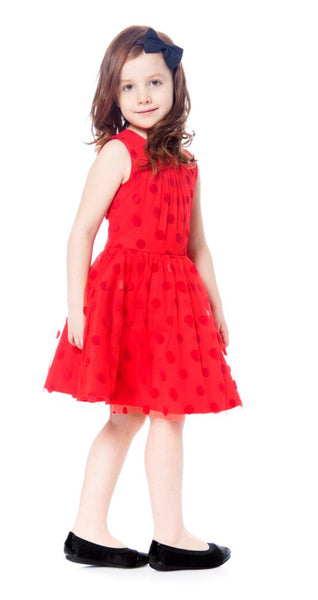Deux par Deux Polka-Dot Tulle Dress