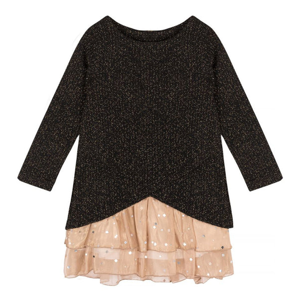 Deux par Deux Sweater Dress with Collar Starmania
