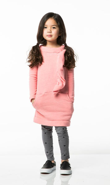 Joah Love Front Ruffle Fleece Imogen Dress