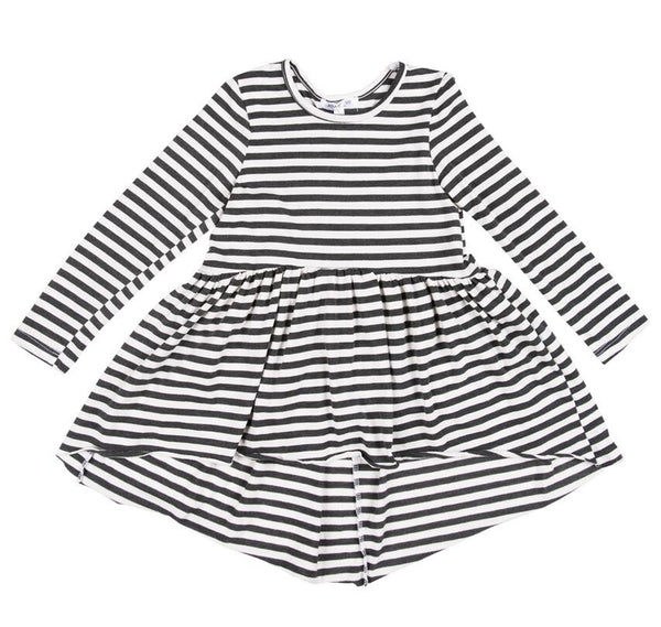 Joah Love Sofi Stripe Jersey Hi/Low Tunic