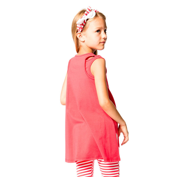 Deux par Deux Summer Talk Teaberry Flared Tunic