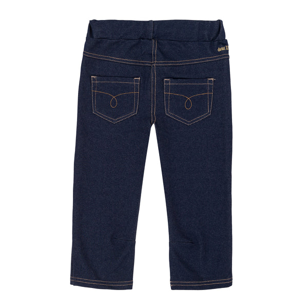 Deux par Deux Must Have Blue Denim 3/4 Jegging