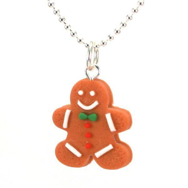 Tiny Hands Scented Gingerbread Man Necklace