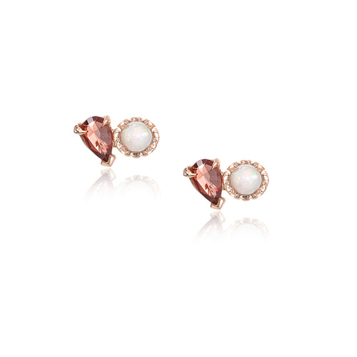 LPG Mimi Deux Stud Earrings- 14K Rose Gold Vermeil