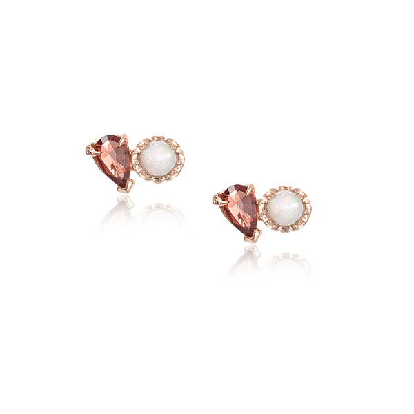 LPG Mimi Duex Stud Earrings- 14K Rose Gold Vermeil