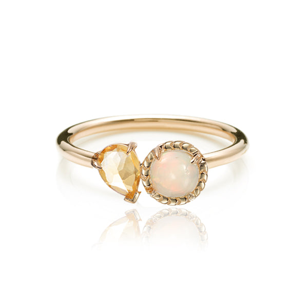 Classic LPG Deux Ring- 14K Yellow Gold Vermeil