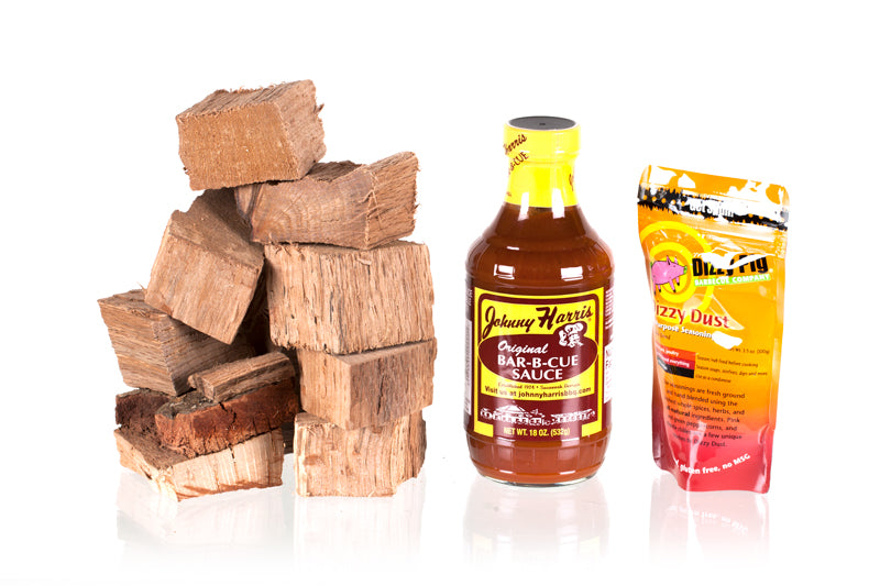Red Oak Wood Chunks - Pork BBQ Box: spareribs (January)