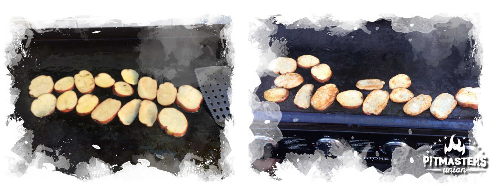 Grilling the potatoe wedges