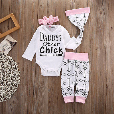 "GIRLS ""DADDYS OTHER CHICK"" + PANTS SET  (0-18M)"
