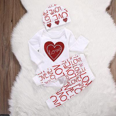 "GIRLS ""LOVE"" PANTS + TOP SET (0-18M)"