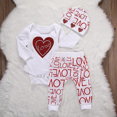 "GIRLS ""NEW ADDITION"" PANTS SET"