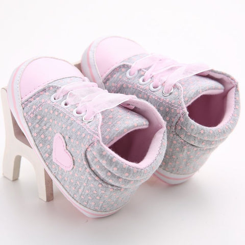 ANTI-SLIP LACE CROSS-OVER LEATHER SOFT SOLE SHOES (0-18M)