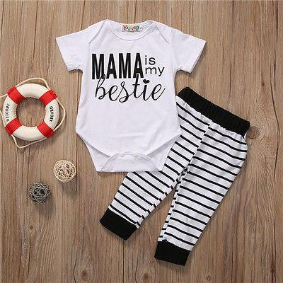 "UNISEX ""MAMA IS MY BESTIE"" ONESIE (0-24M)"
