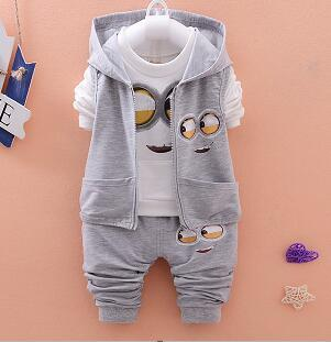 "UNISEX ""MINION"" PANTS + TOP SET (0-24M)"