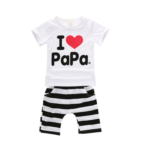 "UNISEX ""I LOVE PAPA"" TOP + BOTTOMS"