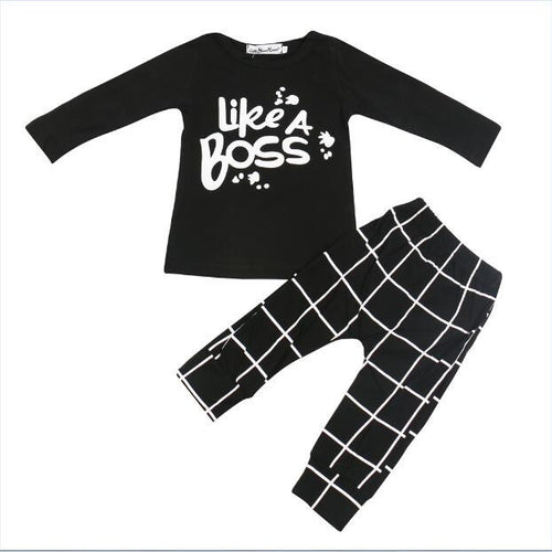 "UNISEX ""BOSS"" HAREM PANTS + TOP SET"