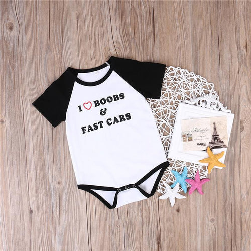 "UNISEX ""I LOVE BOOBS"" BODYSUIT (0-18M)"
