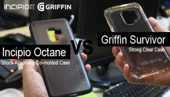 Griffin Survivor Strong Clear case & Incipio Octane Shock-Absorbing Co-molded Case Comparison