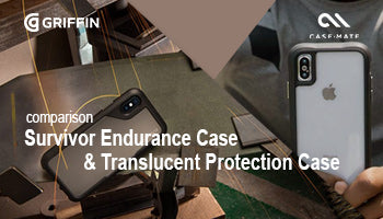 Griffin Survivor Endurance Case & Casemate Translucent Protection Case for iPhone X/XR Comparison
