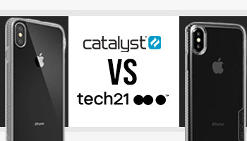 Comparison Catalyst Impact Protection Case vs Tech21 Pure Clear Bulletshield Case for iPhone XS Max