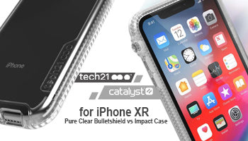 Tech21 Pure Clear Bulletshield vs Catalyst Impact Case for iPhone XR : What Differentiate Both Clear Case?