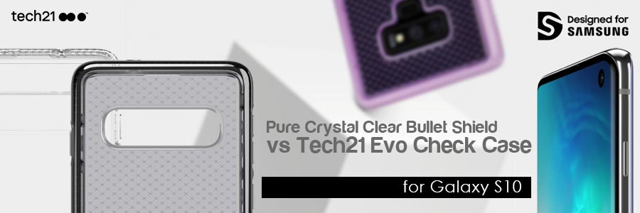 tech21 pure crystal clear bullet shield case vs tech21 evo check case for galaxy s10 review australia