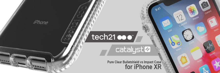 tech21 pure clear bulletshield vs catalyst impact casefor iphone xr