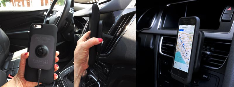 how to set up MOPHIE CHARGE FORCE CAR VENT MOUNT