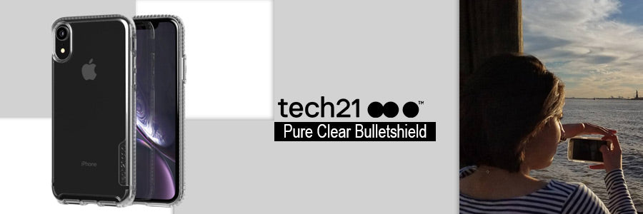 tech21 impact clear bulletshield for iphone xr