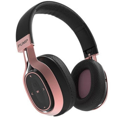 Blueant Pump Zone Over Ear Wireless Hd Audio Headphones Australia Black Rose Gold colour
