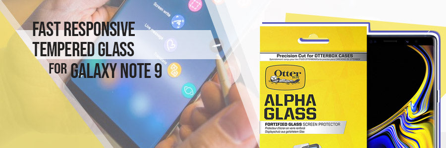 Fast Responsive Tempered Glass For the The Otterbox Clearly Protected Alpha Glass Screen Protector for Galaxy Note 9