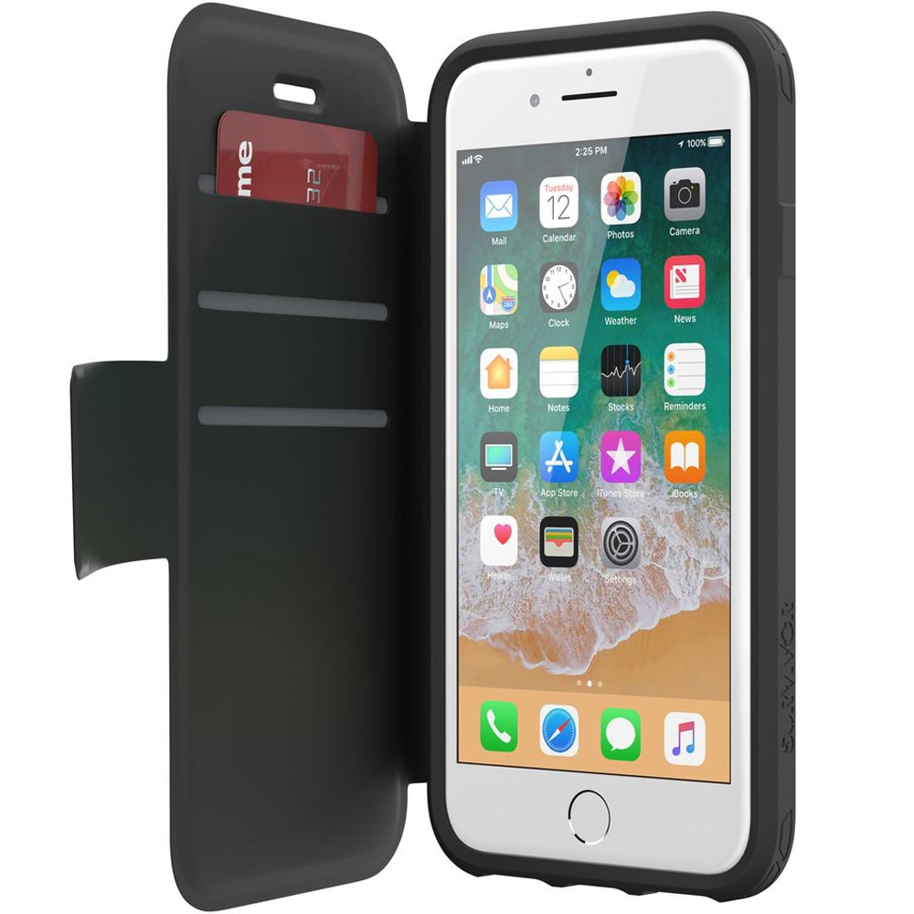 Place to buy genuine GRIFFIN SURVIVOR STRONG WALLET CASE FOR iPHONE 8/7/6S BLACK. Free express shipping australia.