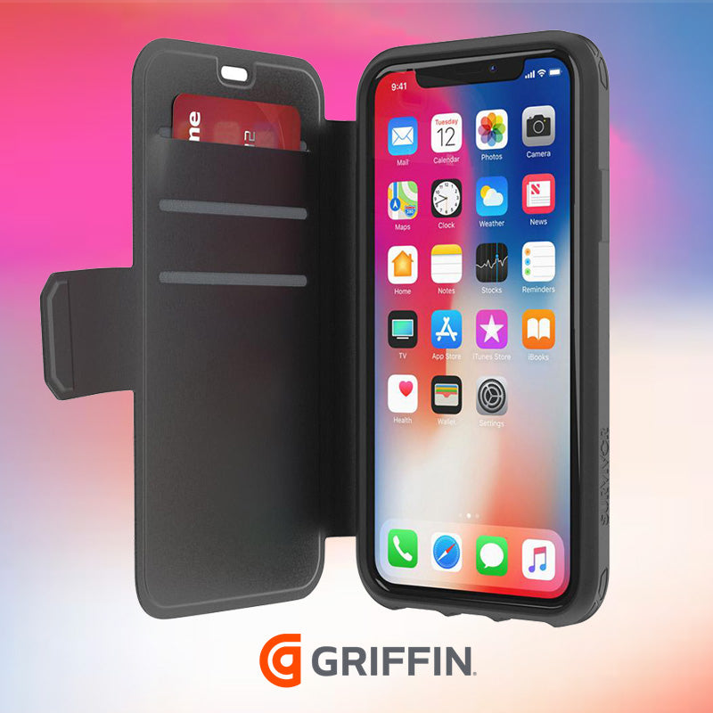 Griffin Survivor Strong Card Wallet Case iphone x