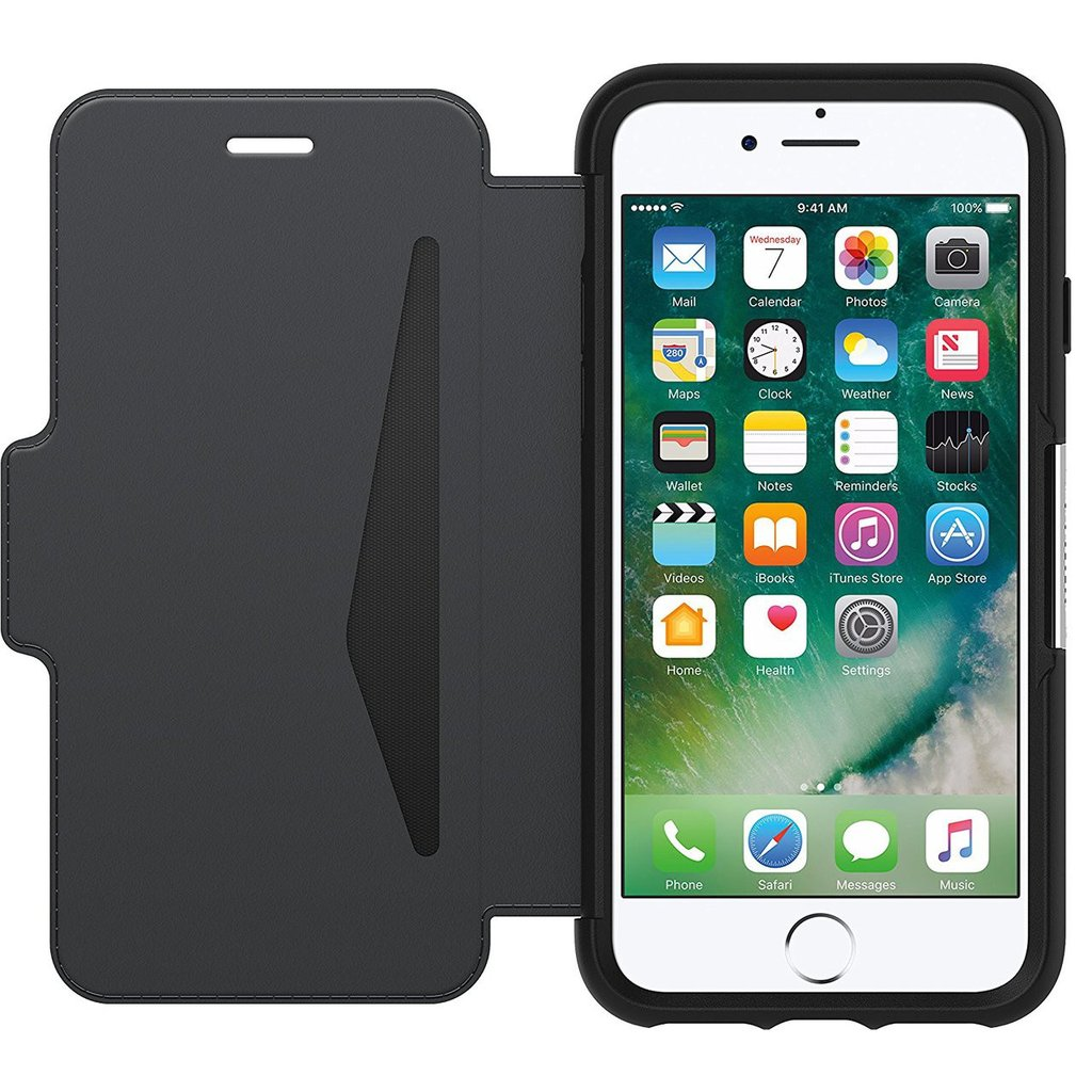 Place to buy Otterbox Strada Leather Card Folio Case For Iphone 8/7 Black Color. The best case ever to protect your device from bumps, drops, and scratch.