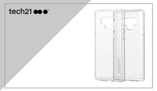 TECH21 PURE CLEAR BULLETSHIELD CASE FOR GALAXY NOTE 9