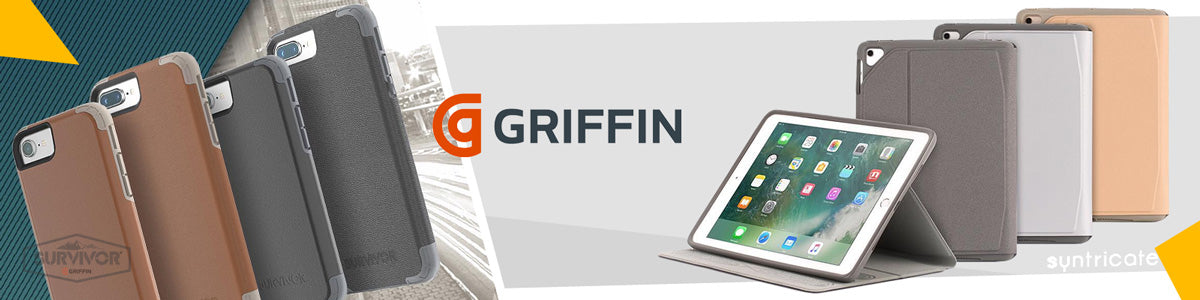 Griffin case and accessories for iphone x 7 8, samsung galaxy s8 7, note 8, google pixel, htc and more.