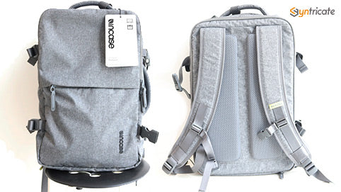 Incase EO Travel Backpack front and back view