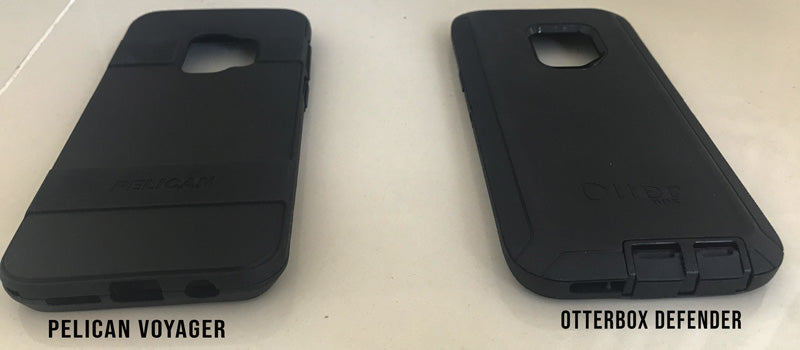 pelican voyager and otterbox defender back view galaxy s9