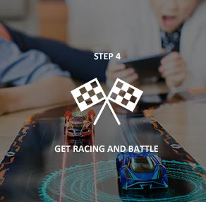 step 4 play anki overdrive supercars: race againts your friends, family, and AI